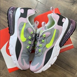 NIKE AIR MAX 270 REACT GS particle grey/lemon veno